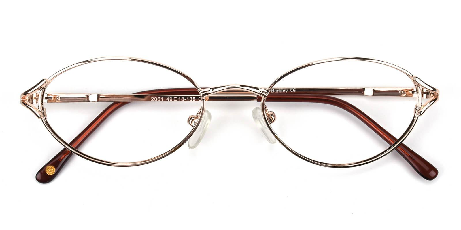 Victoria-Gold-Oval / Cat-Metal-Eyeglasses-detail