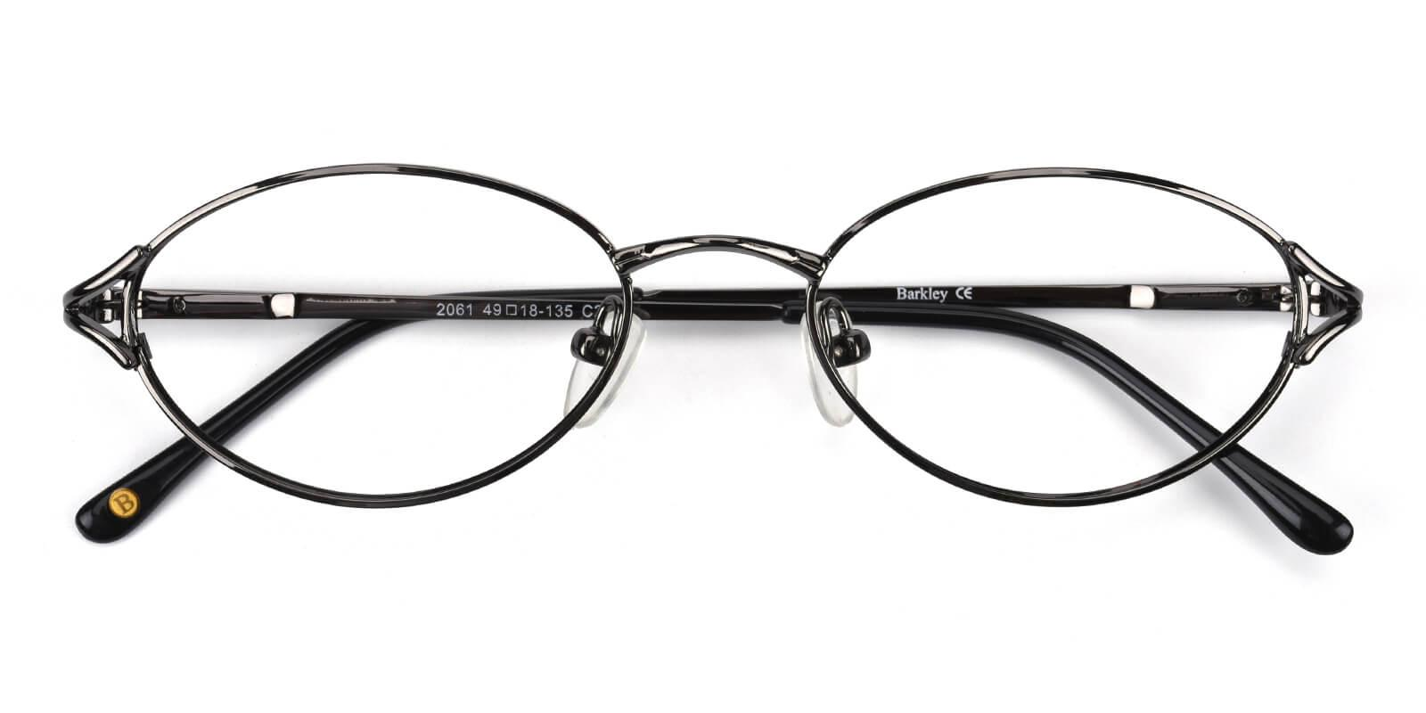 Victoria-Gun-Oval / Cat-Metal-Eyeglasses-detail