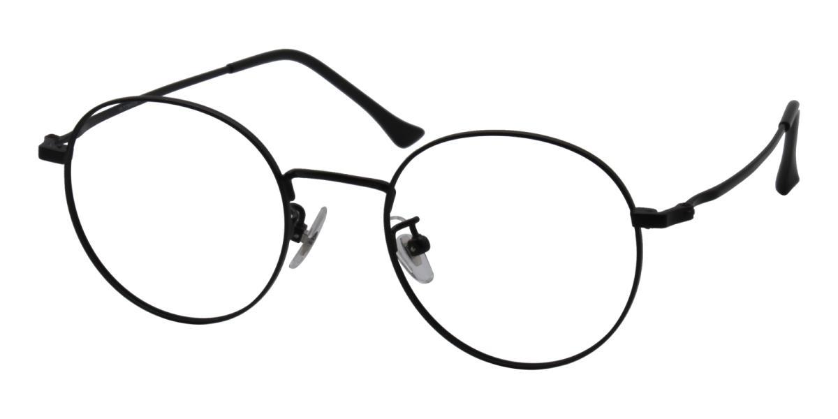Morelia-Black-Round-Titanium-Eyeglasses-detail