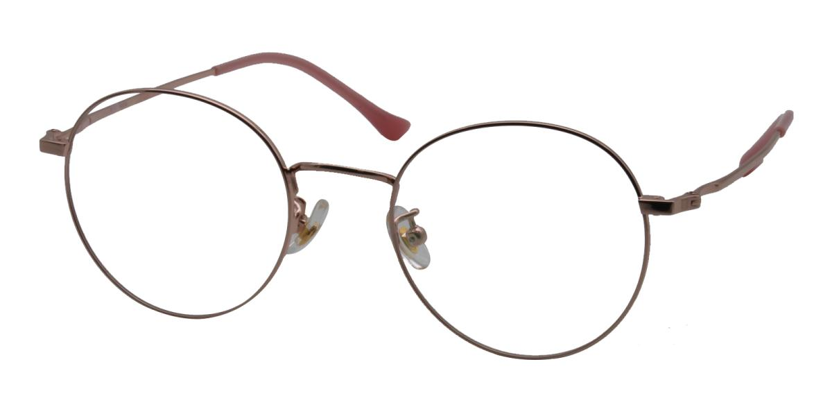 Morelia-Pink-Round-Titanium-Eyeglasses-additional1