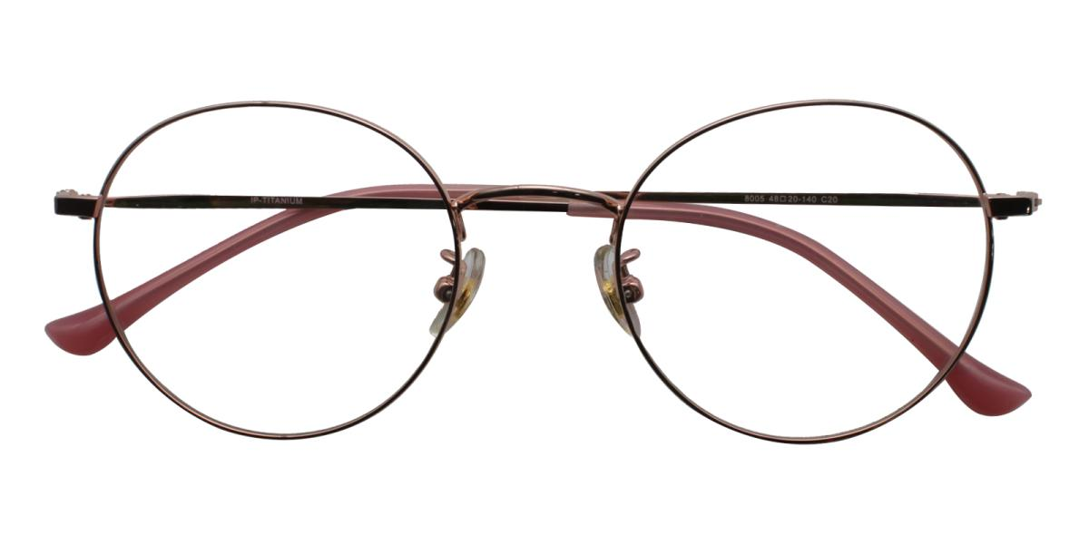 Morelia-Pink-Round-Titanium-Eyeglasses-detail