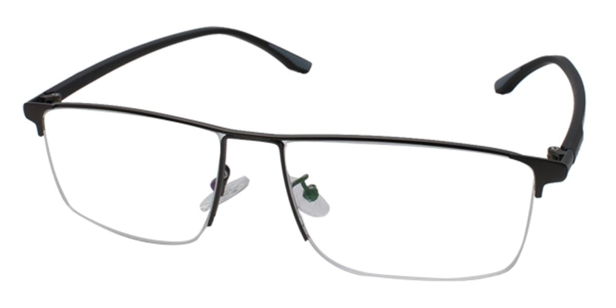 Isaac-Black-Rectangle-Metal-Eyeglasses-additional1
