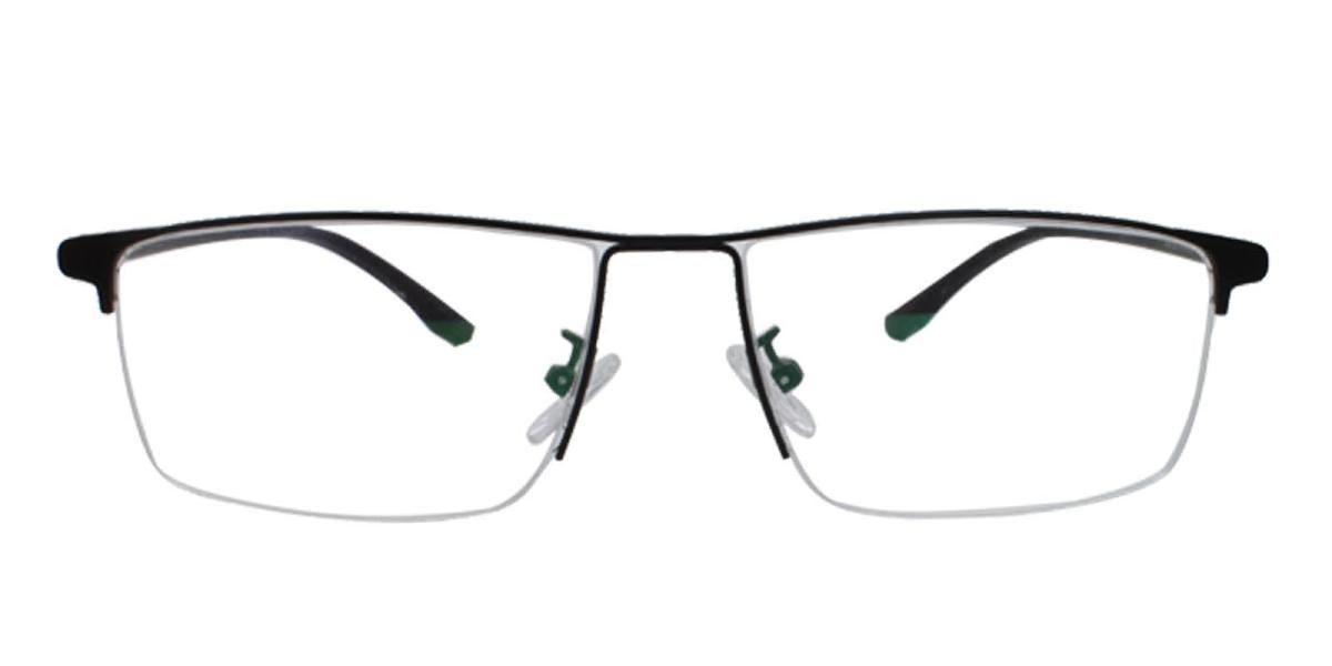 Isaac-Black-Rectangle-Metal-Eyeglasses-detail