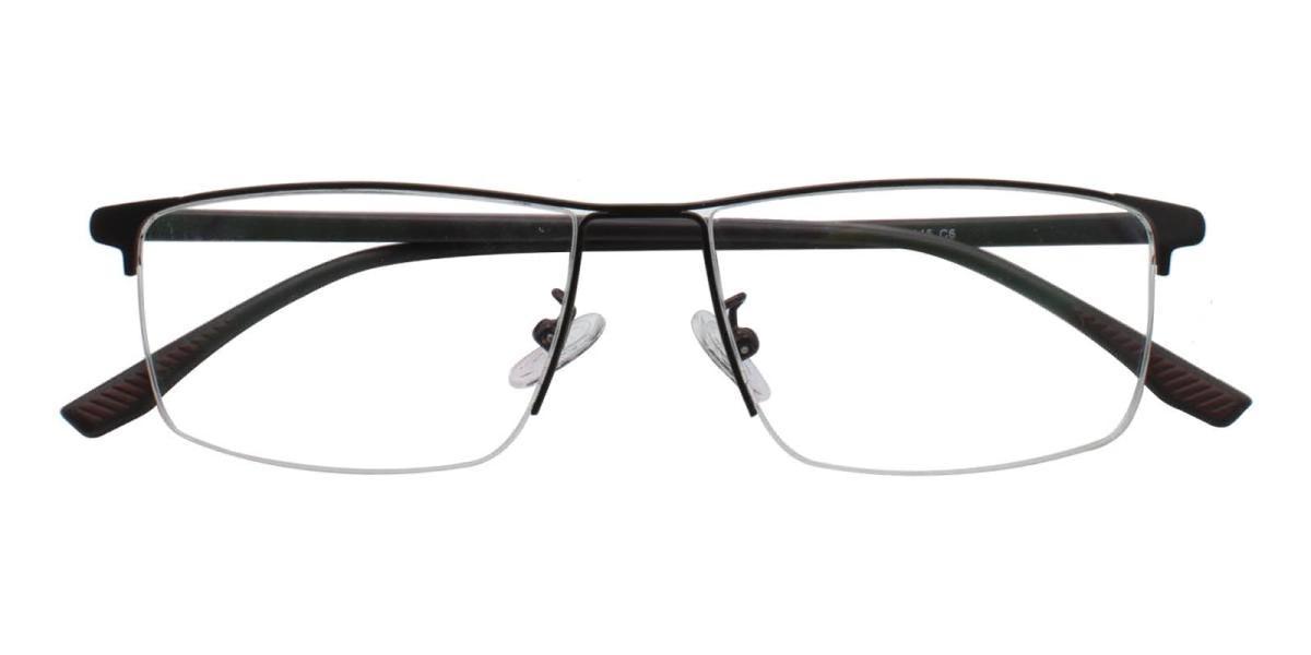 Isaac-Brown-Rectangle-Metal-Eyeglasses-detail