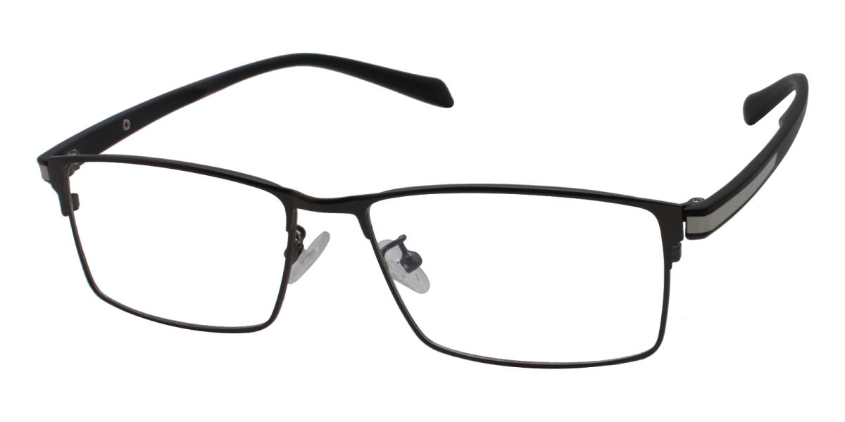 Frade-Black-Rectangle-Metal-Eyeglasses-detail