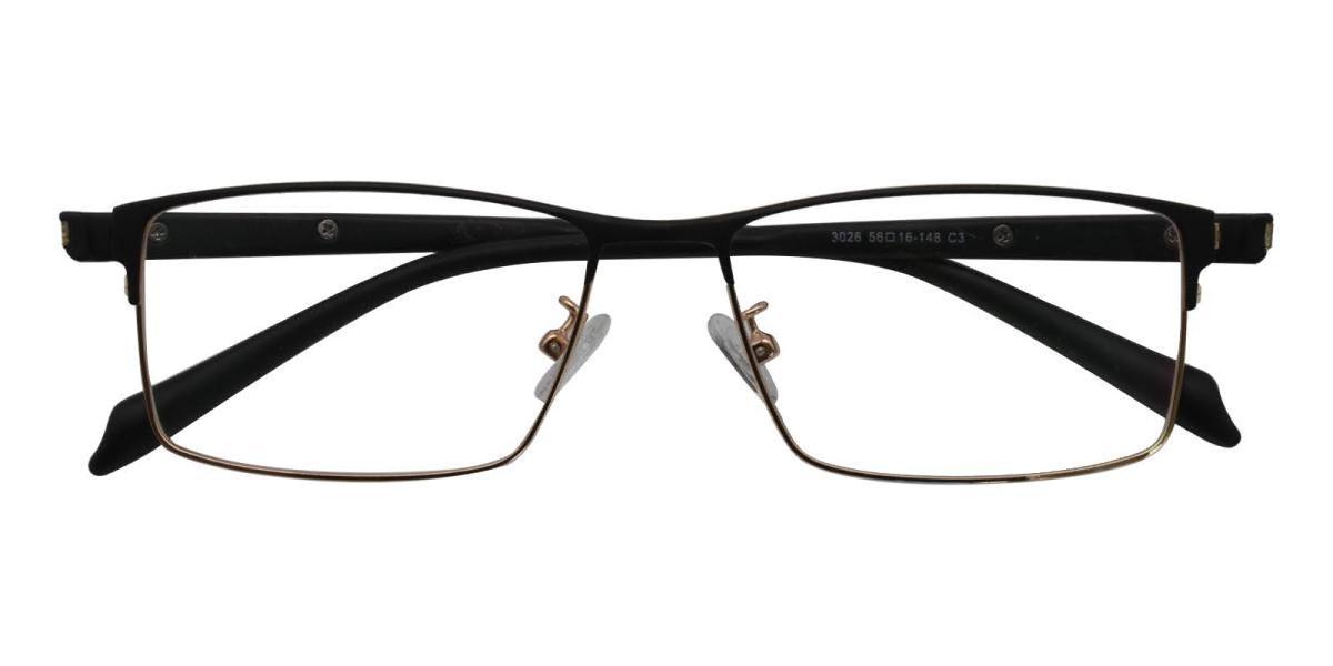 Frade-Gold-Rectangle-Metal-Eyeglasses-detail
