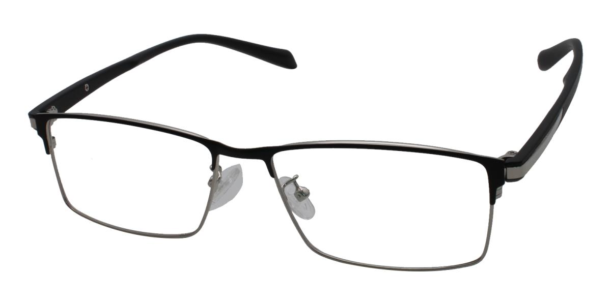 Frade-Silver-Rectangle-Metal-Eyeglasses-additional1