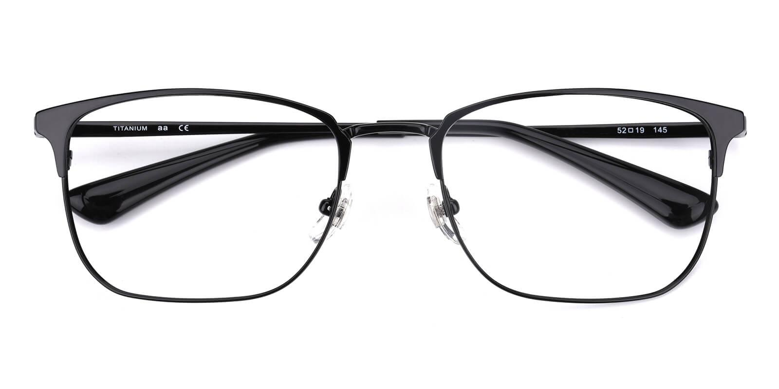 Christina-Black-Rectangle-Titanium-Eyeglasses-detail