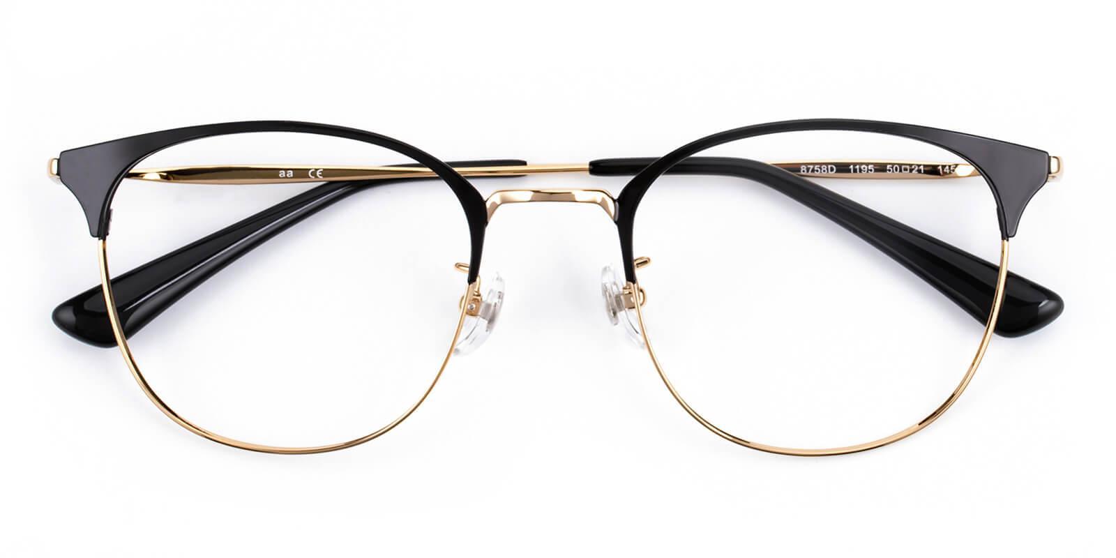 Belle-Gold-Cat-Titanium-Eyeglasses-detail
