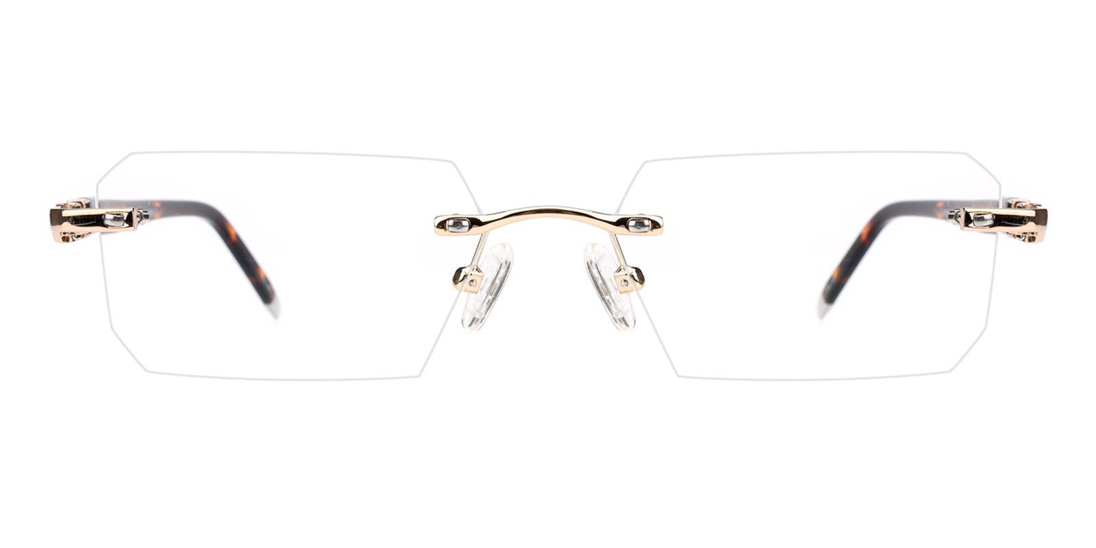 Somalia-Gold-Rectangle-Titanium-Eyeglasses-detail