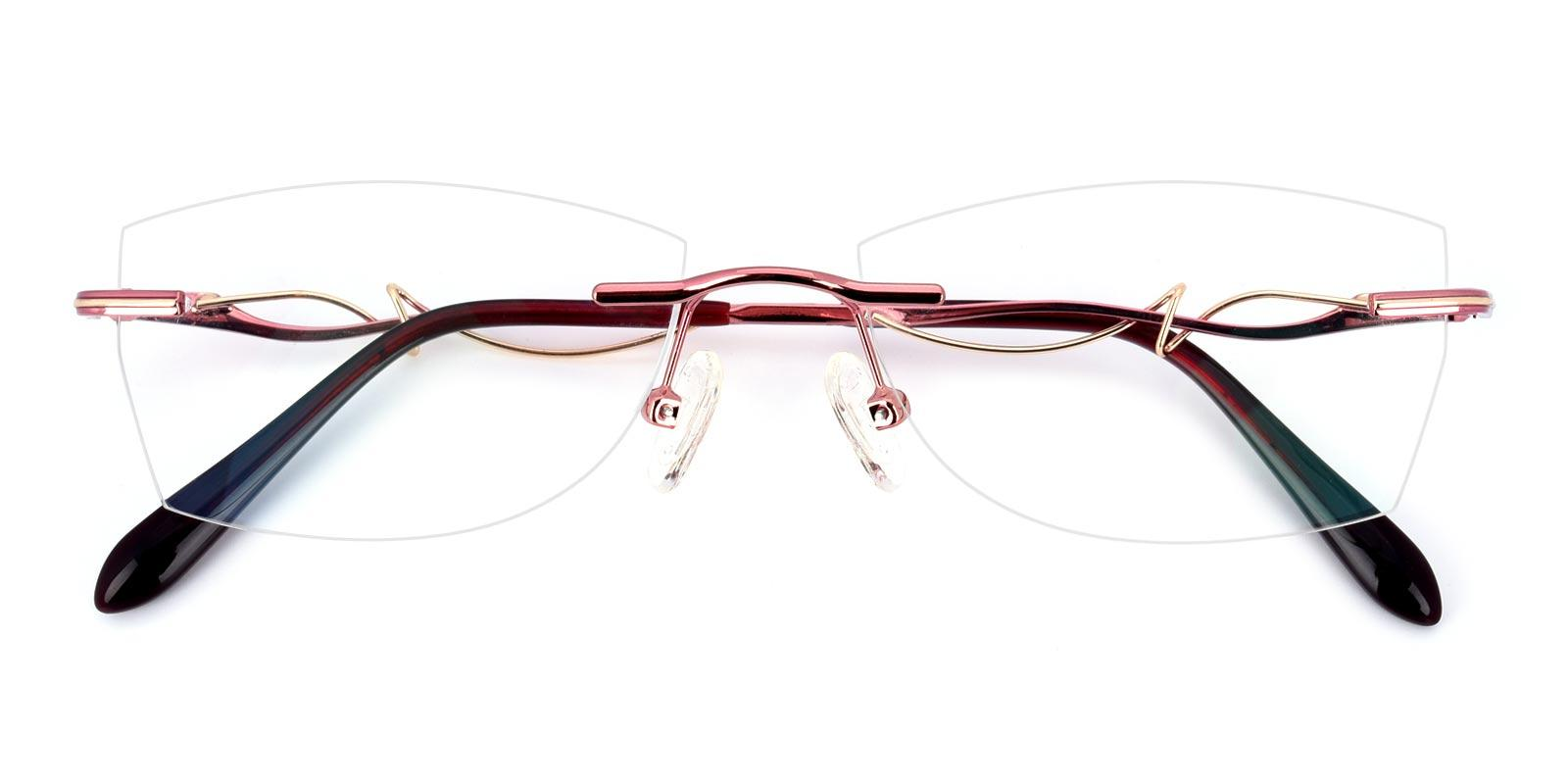 Carson-Red-Geometric-Titanium-Eyeglasses-detail