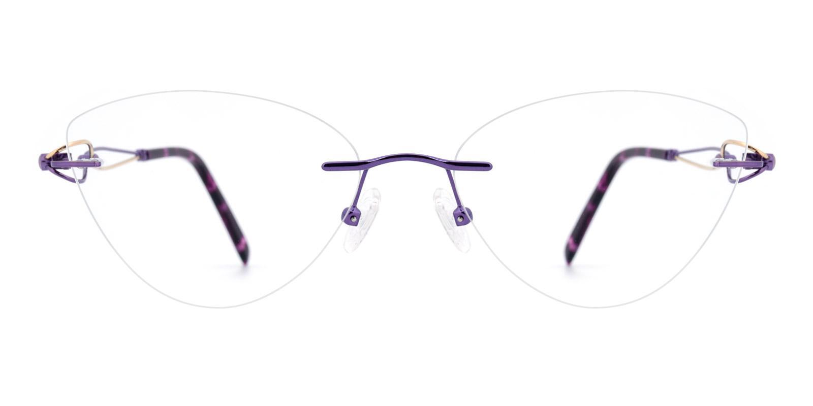 Dome-Purple-Cat / Varieties-Titanium-Eyeglasses-additional2