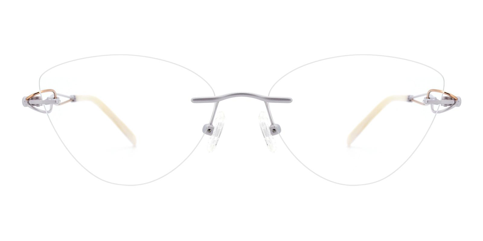 Dome-White-Cat-Titanium-Eyeglasses-detail