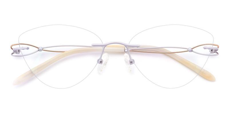 Dome-White-Eyeglasses