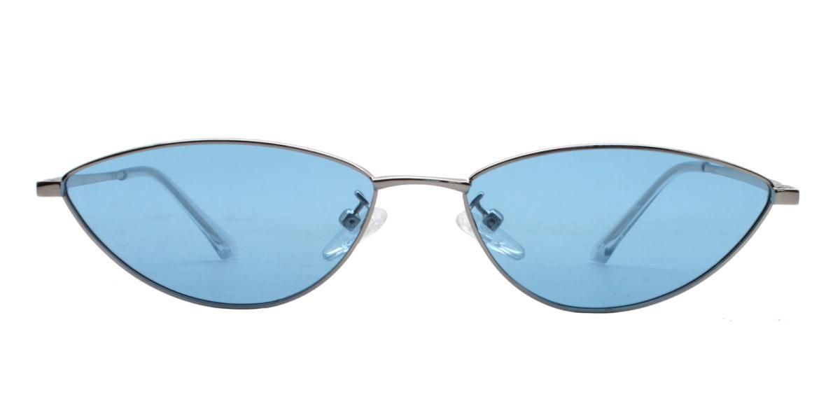 Bingo-Silver-Cat / Geometric-Metal-Sunglasses-detail
