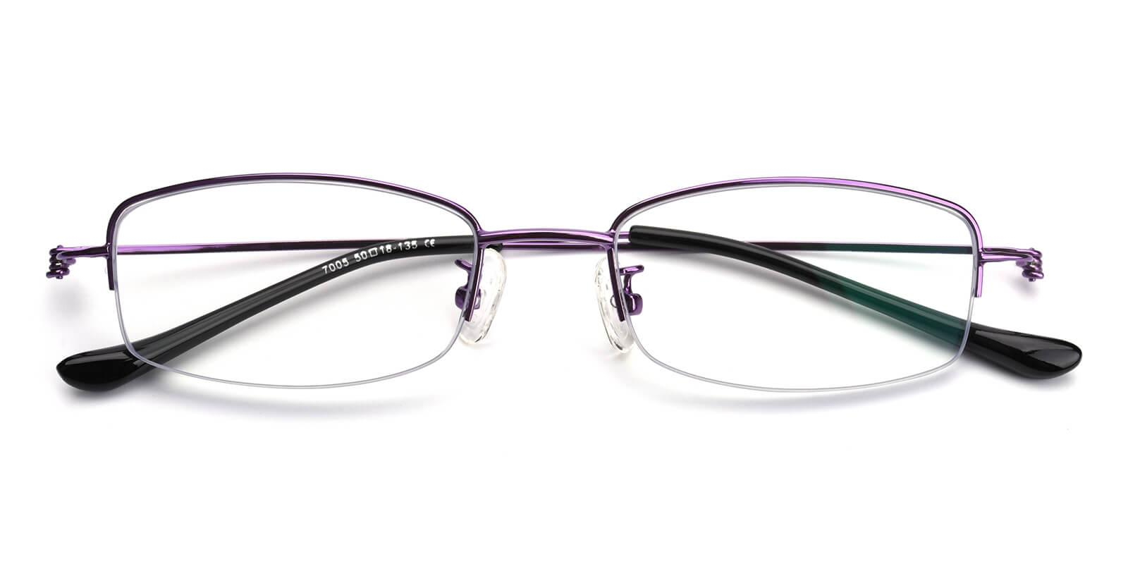 Elise-Purple-Rectangle-Metal-Eyeglasses-detail
