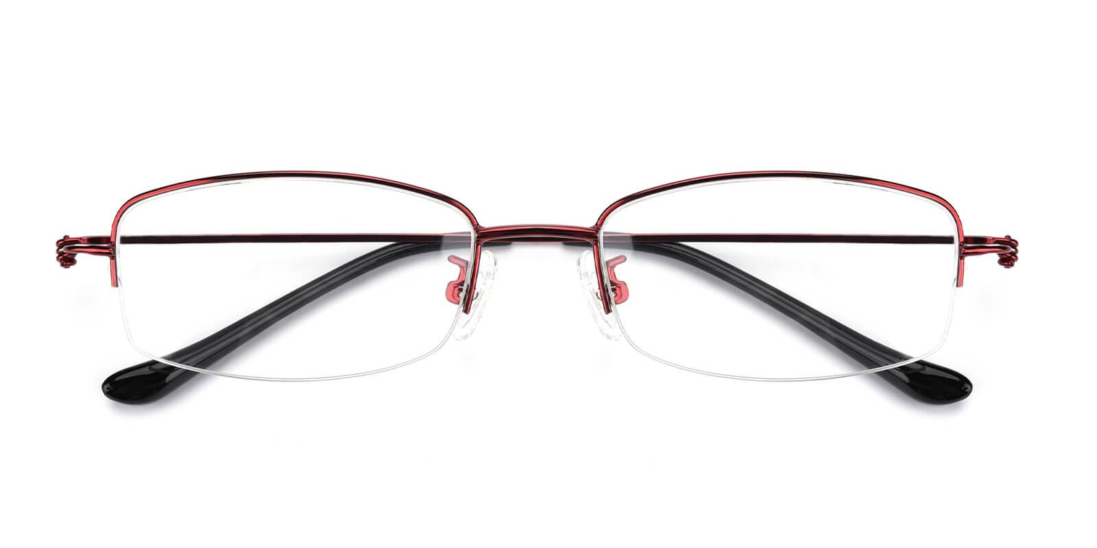 Elise-Red-Rectangle-Metal-Eyeglasses-detail