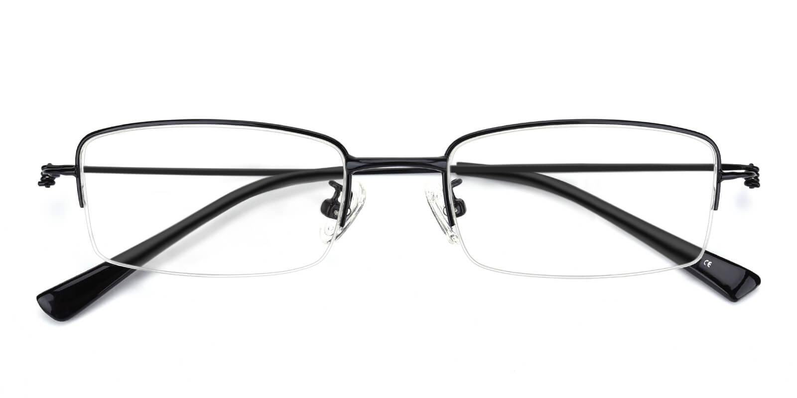 Rector-Black-Rectangle-Metal-Eyeglasses-detail