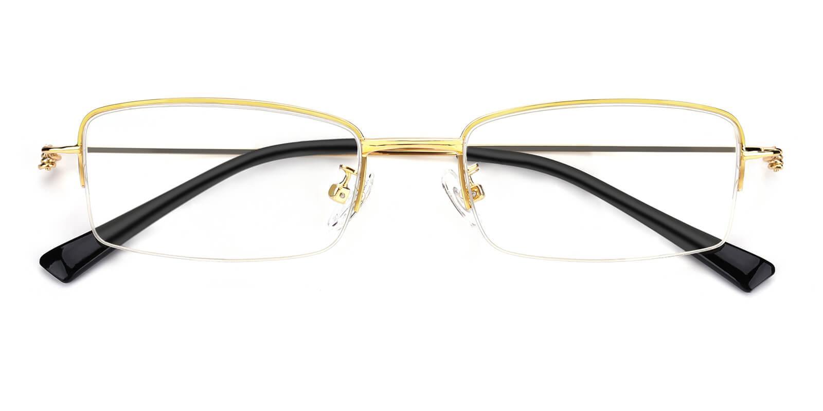 Rector-Gold-Rectangle-Metal-Eyeglasses-detail