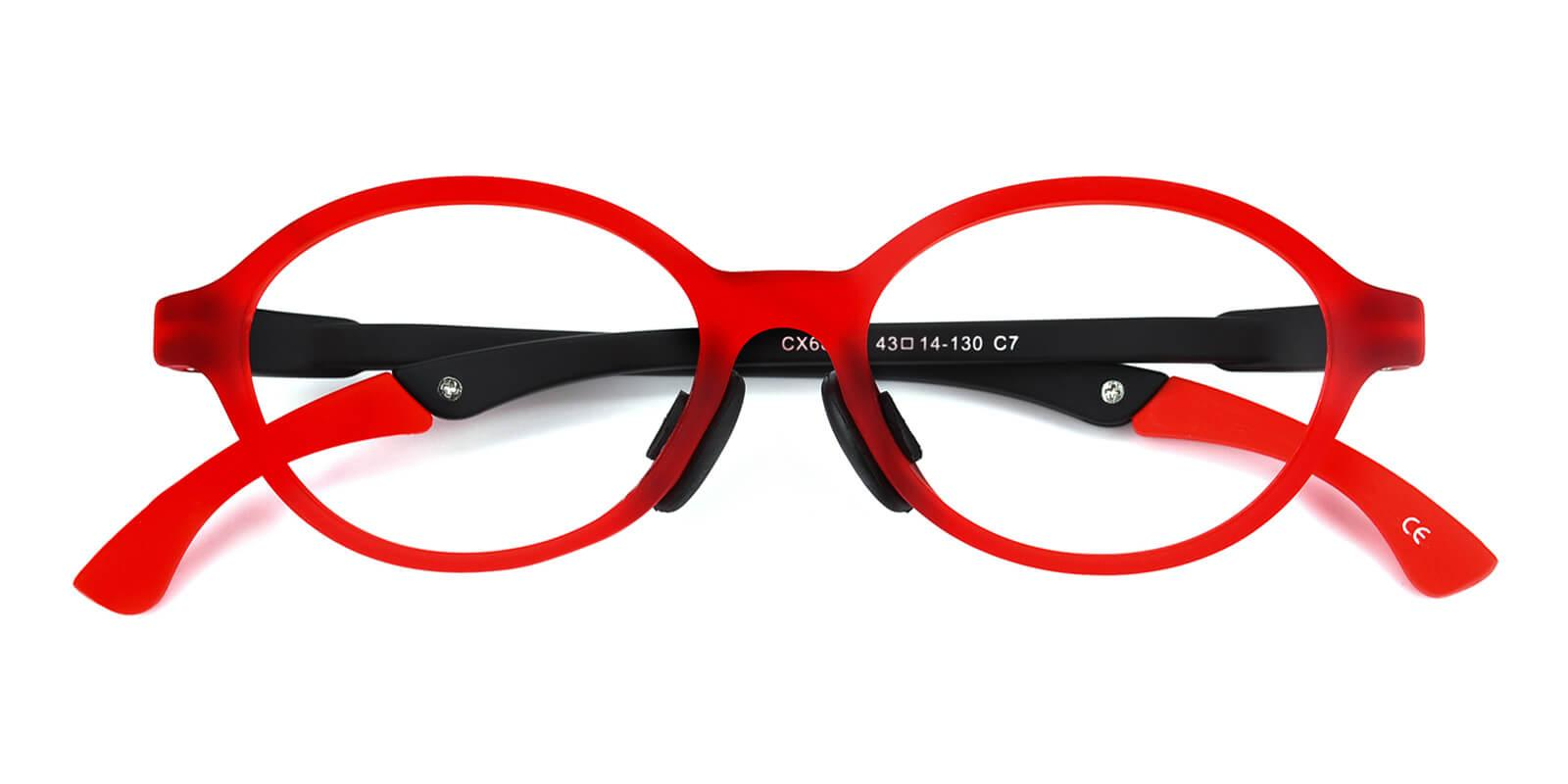 Morestar-Red-Oval-TR-Eyeglasses-detail