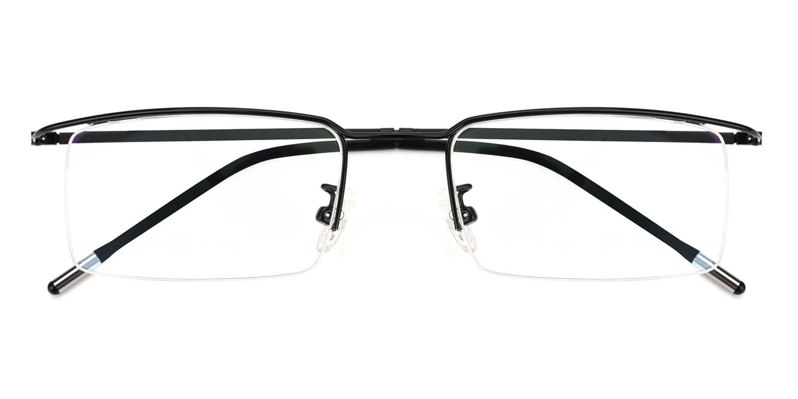 Wit-Black-Rectangle-Metal-Eyeglasses-detail