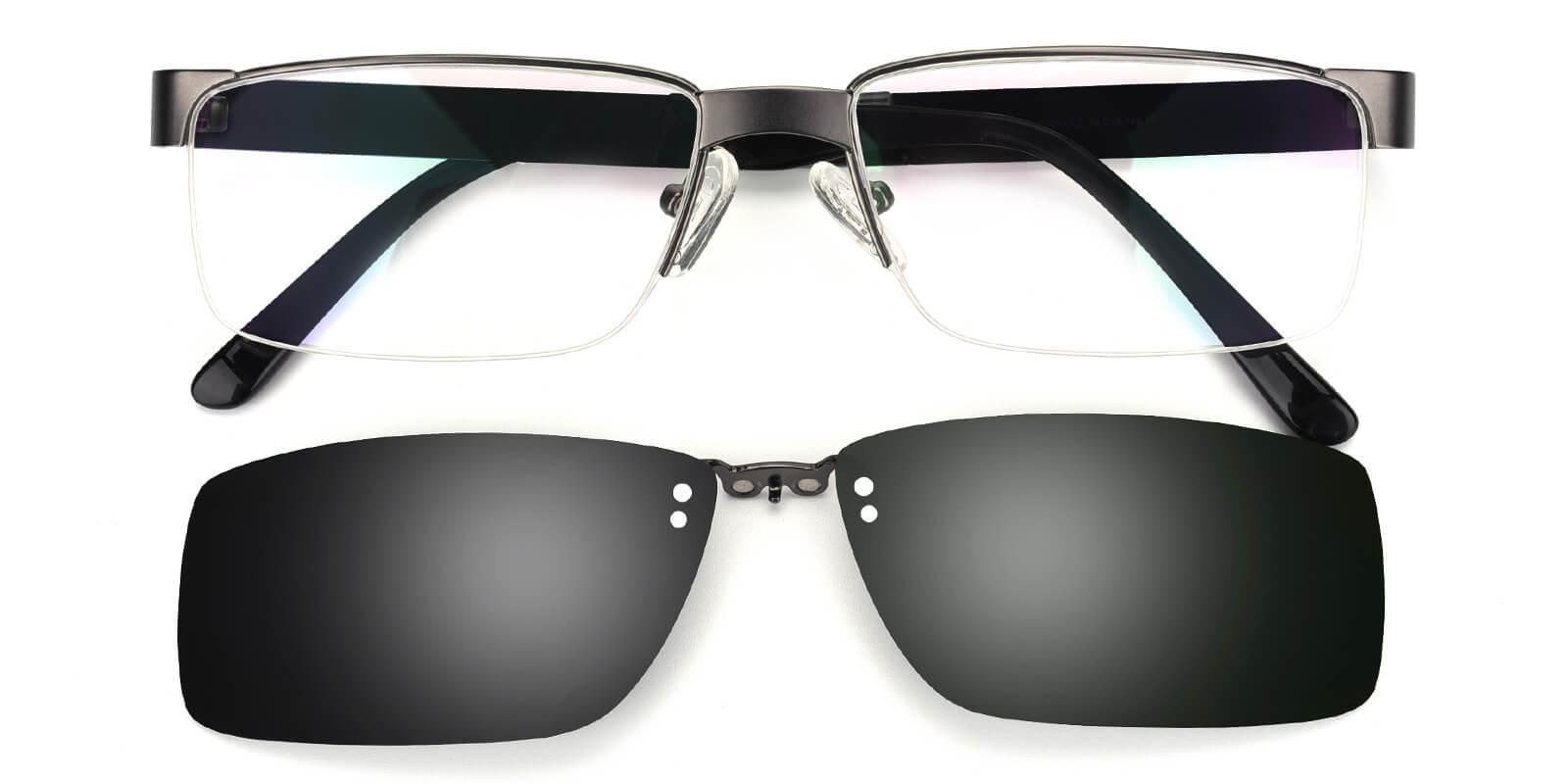 Sparkle-Gun-Rectangle-Metal-Eyeglasses-detail