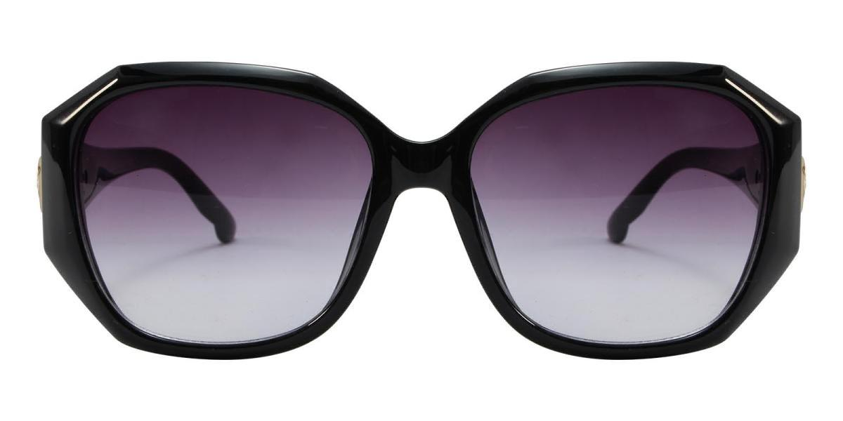 Sevilla-Black-Cat / Geometric-Acetate-Sunglasses-detail