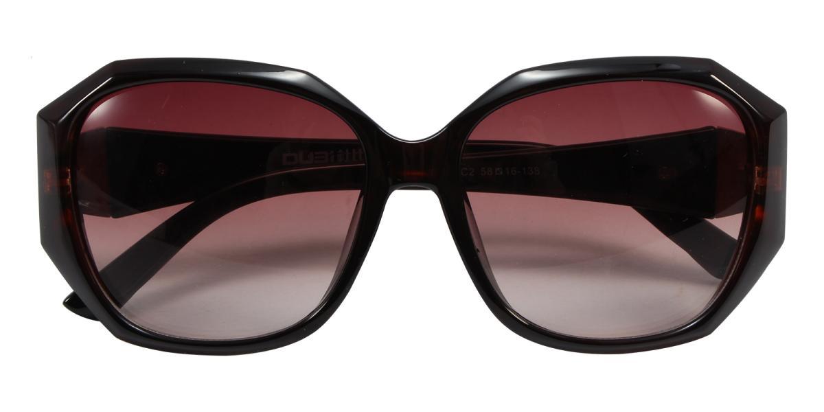 Sevilla-Brown-Cat / Geometric-Acetate-Sunglasses-detail