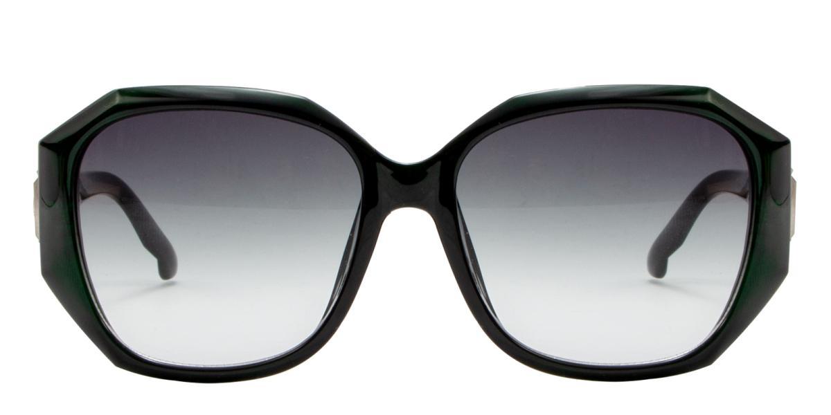 Sevilla-Green-Cat / Geometric-Acetate-Sunglasses-additional2
