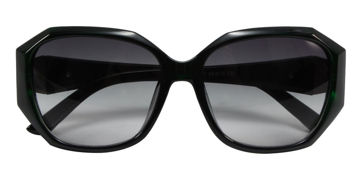Sevilla-Green-Cat / Geometric-Acetate-Sunglasses-detail