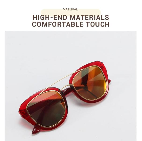 Ailianee-Red-Acetate / Metal-Sunglasses-detail2
