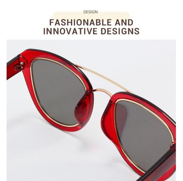 Ailianee-Red-Acetate / Metal-Sunglasses-detail3