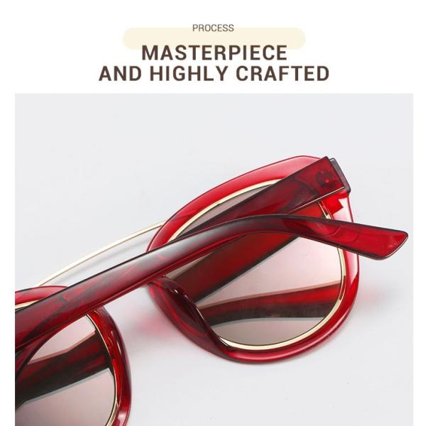 Ailianee-Red-Acetate / Metal-Sunglasses-detail4