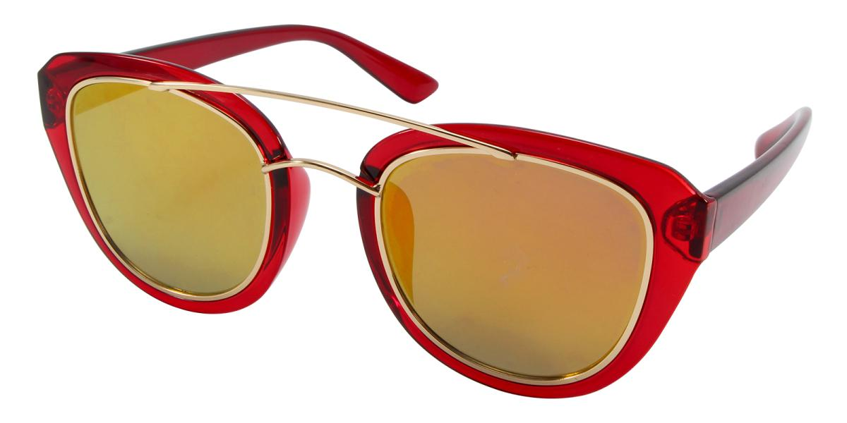 Ailianee-Red-Aviator-Acetate / Metal-Sunglasses-additional1