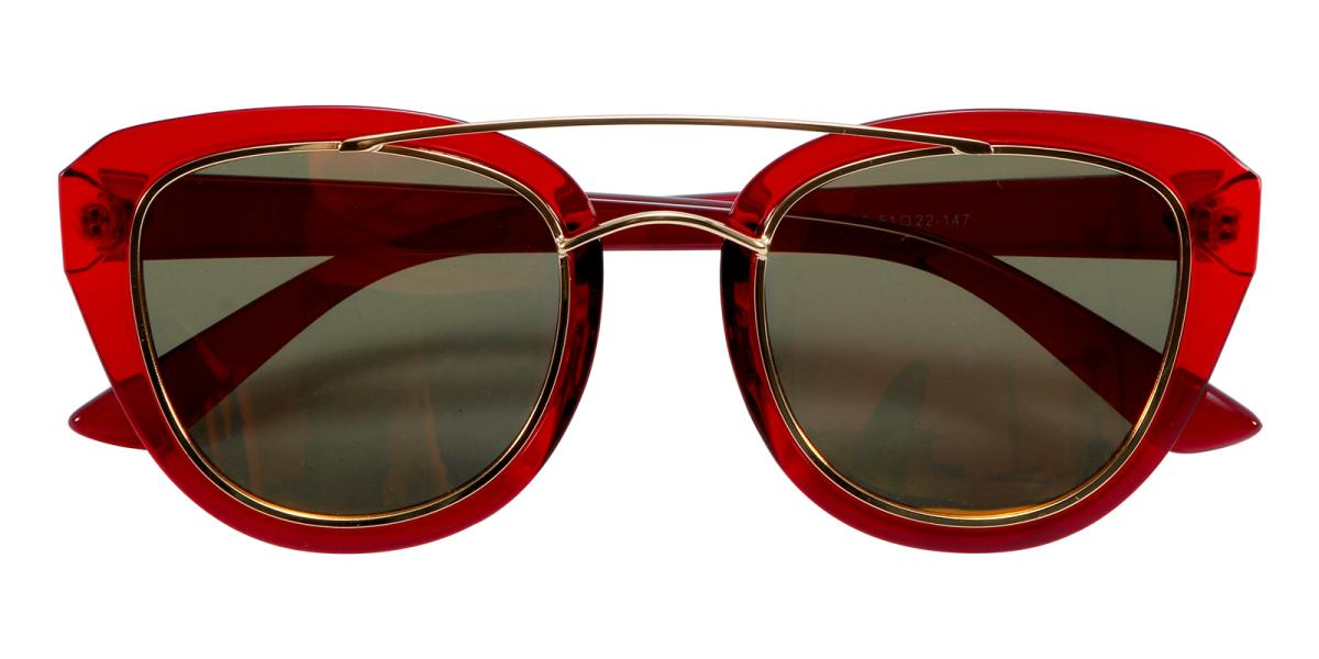 Ailianee-Red-Aviator-Acetate / Metal-Sunglasses-additional2