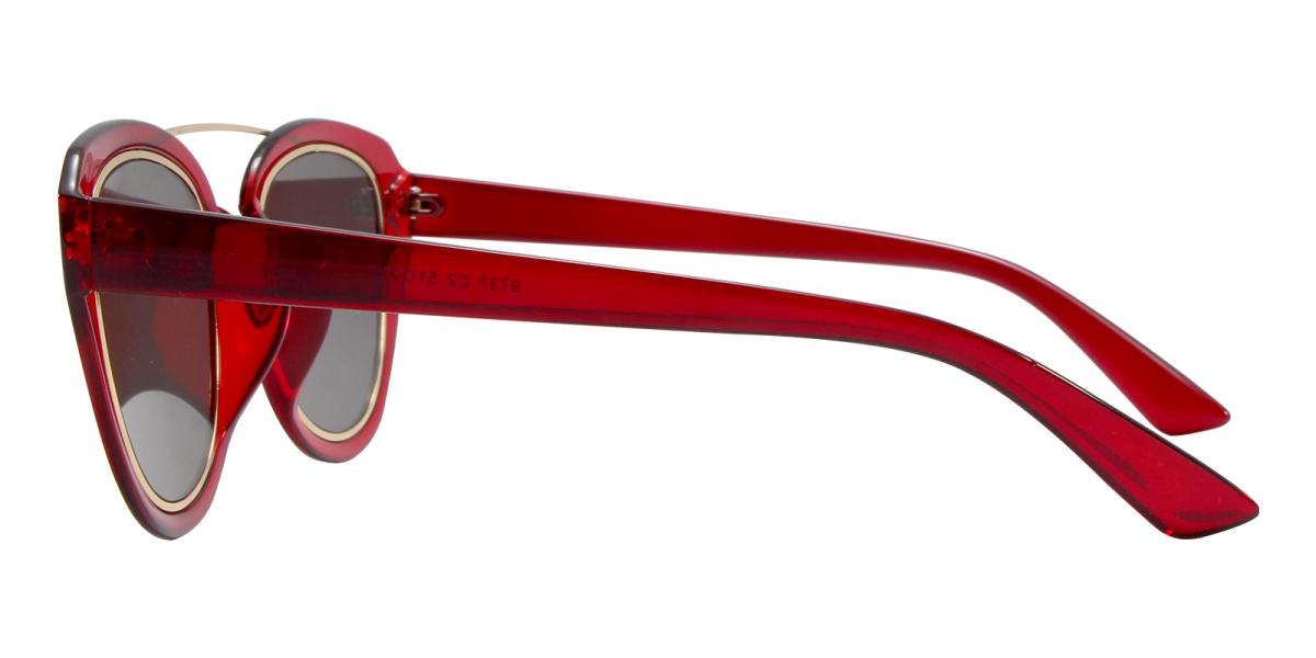 Ailianee-Red-Aviator-Acetate / Metal-Sunglasses-additional3