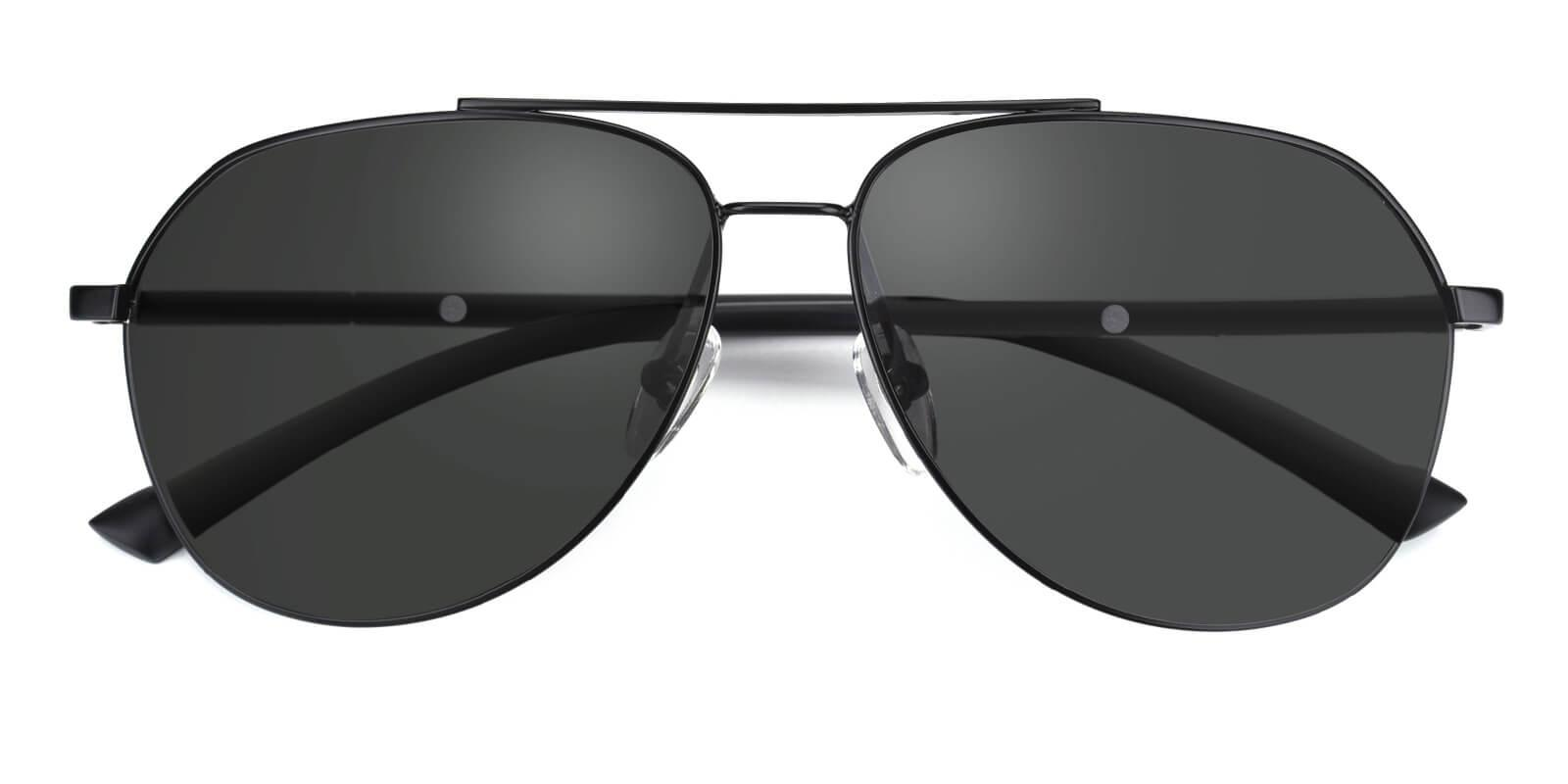 Domi-Black-Aviator-Metal-Sunglasses-detail