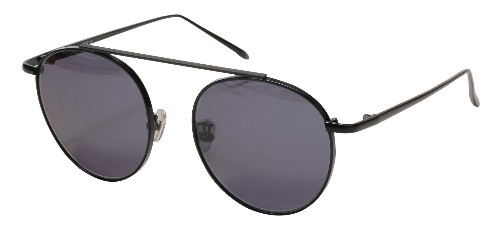 Timisoara-Black-Aviator-Metal-Sunglasses-detail