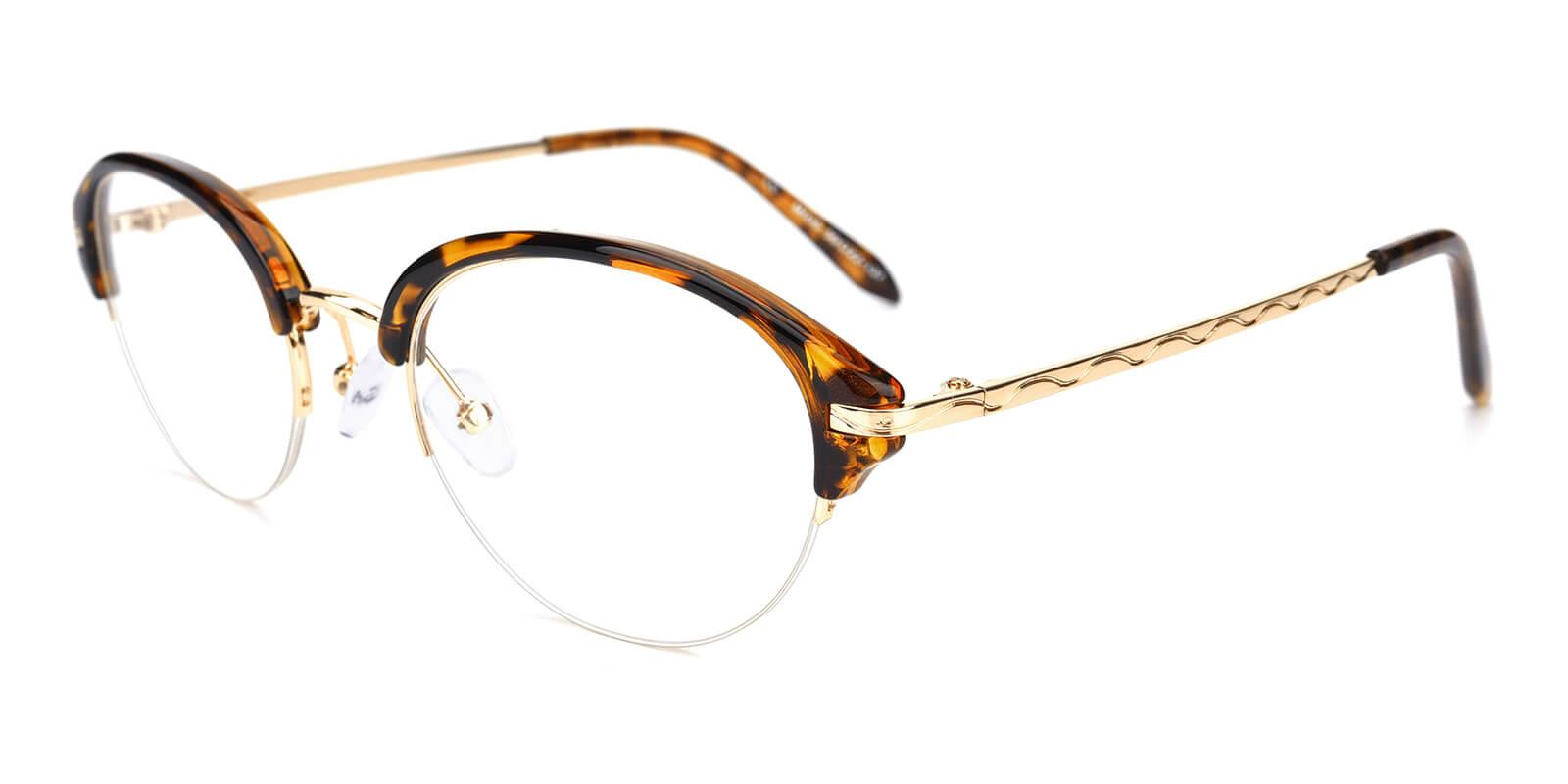 Selina-Brown-Browline-Metal / TR-Eyeglasses-additional1