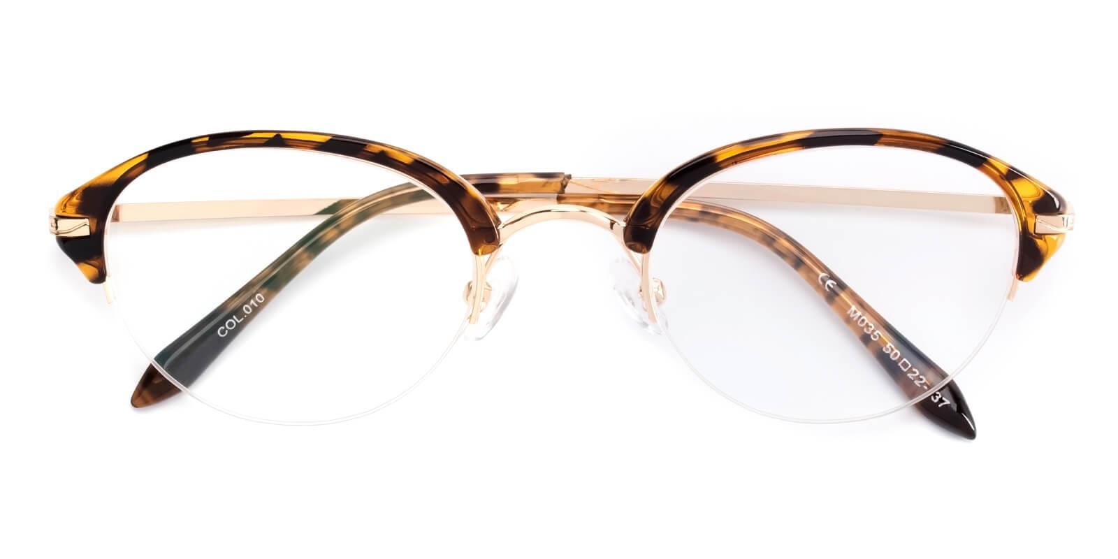 Selina-Brown-Browline-Metal / TR-Eyeglasses-detail