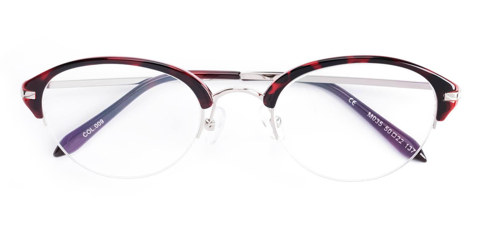 Selina-Red-Browline-Metal / TR-Eyeglasses-detail