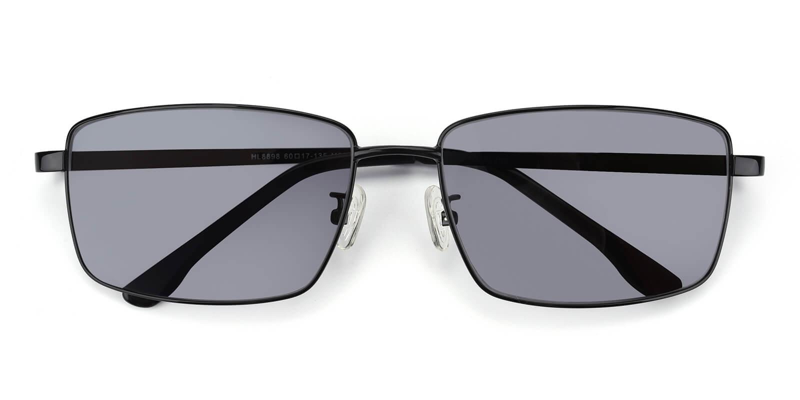 Sea-Black-Rectangle-Metal-Sunglasses-detail