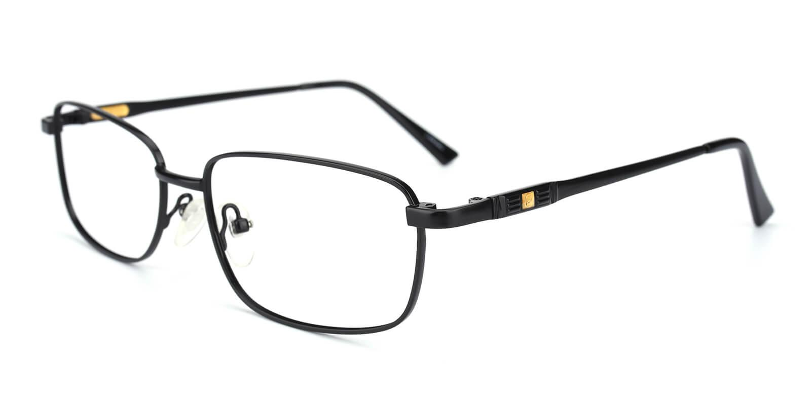 Michelly-Black-Rectangle-Metal-Eyeglasses-additional1