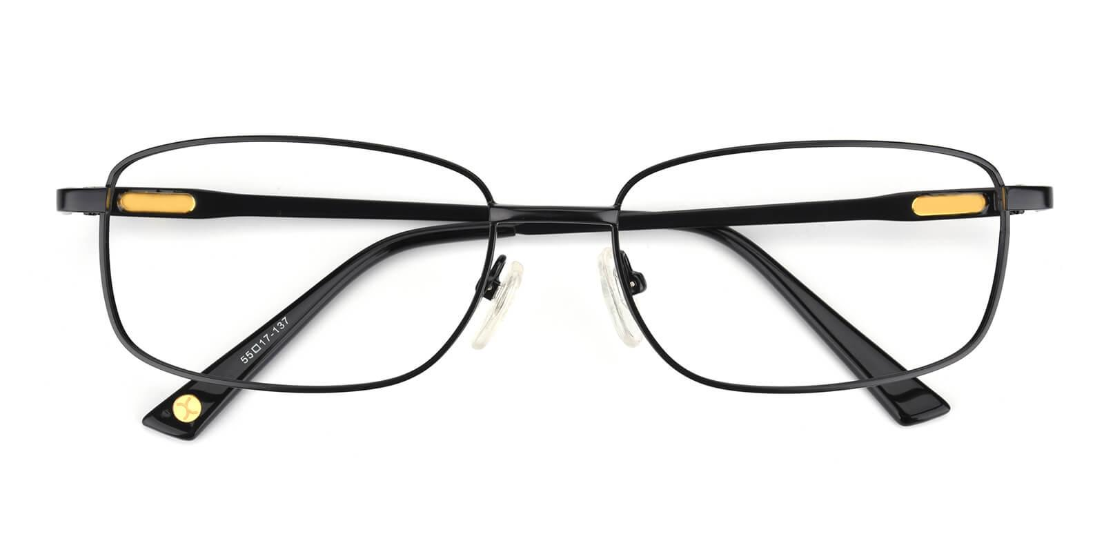 Michelly-Black-Rectangle-Metal-Eyeglasses-detail