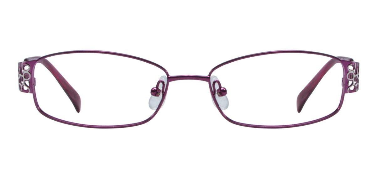 Hollowing-Purple-Rectangle-Metal-Eyeglasses-detail