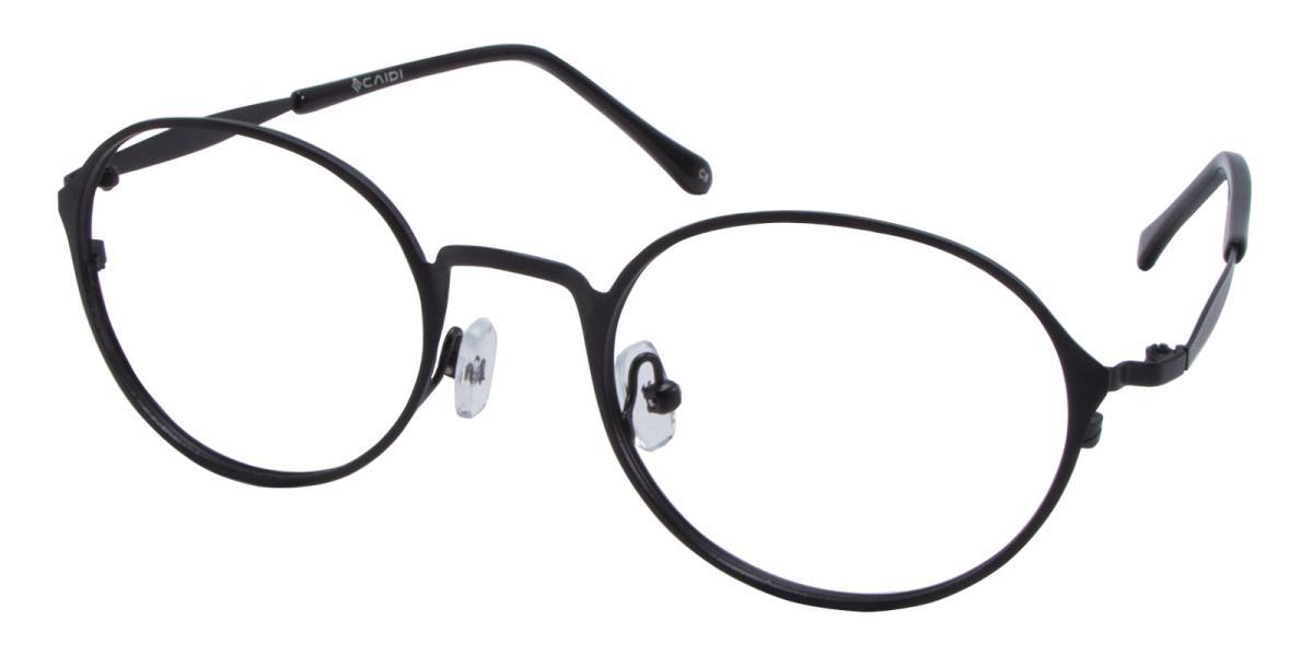 Ottoto-Black-Oval-Metal-Eyeglasses-additional1
