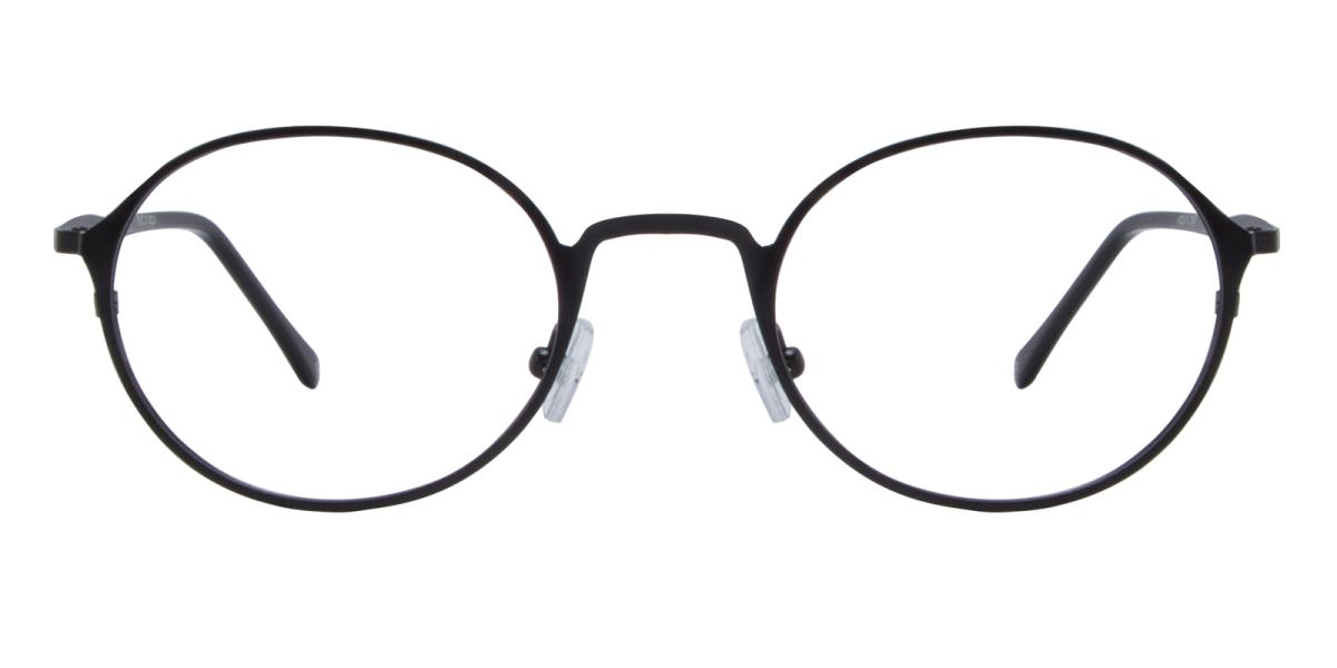 Ottoto-Black-Oval-Metal-Eyeglasses-detail