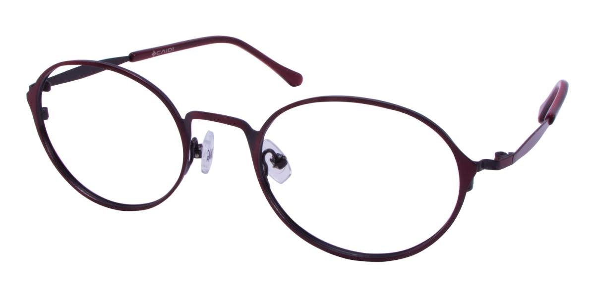 Ottoto-Red-Oval-Metal-Eyeglasses-additional1