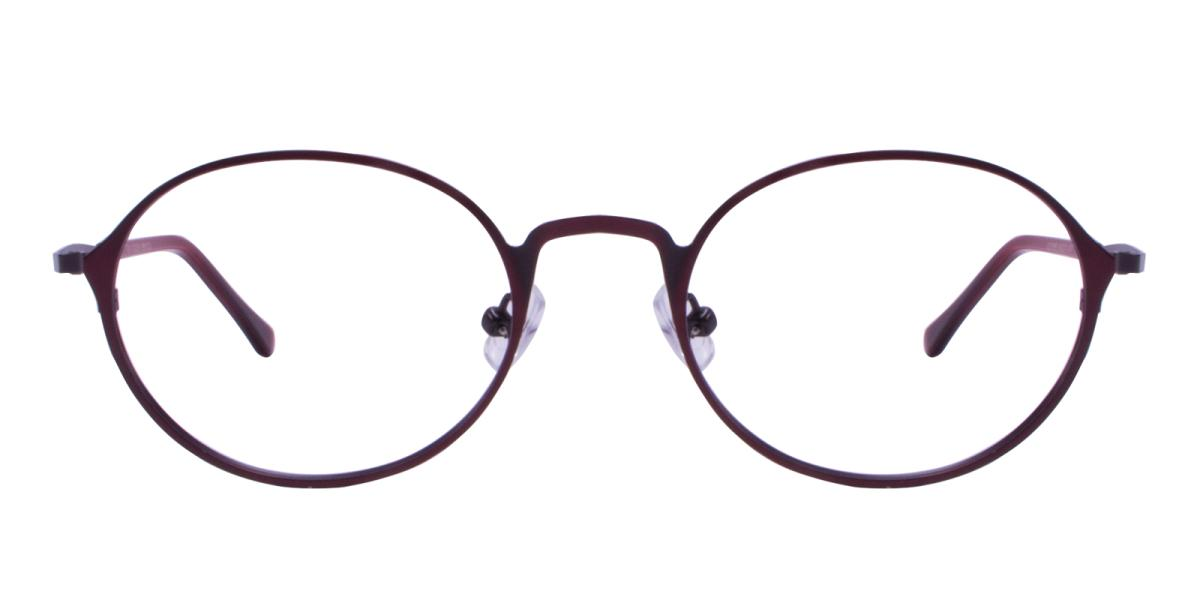Ottoto-Red-Oval-Metal-Eyeglasses-additional2
