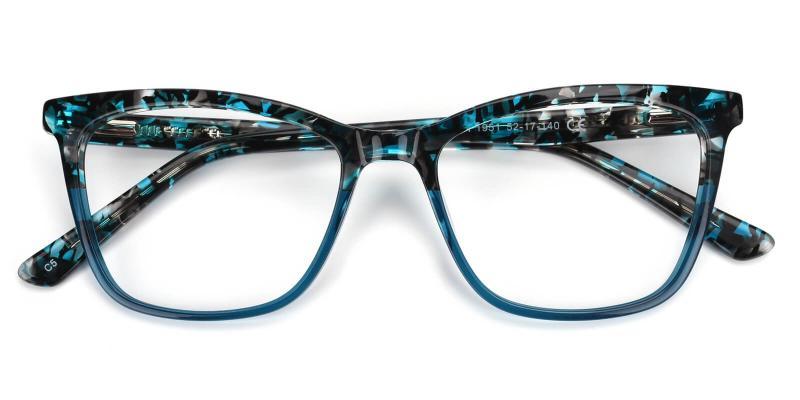 Beatrice-Blue-Eyeglasses / Fashion / SpringHinges / UniversalBridgeFit